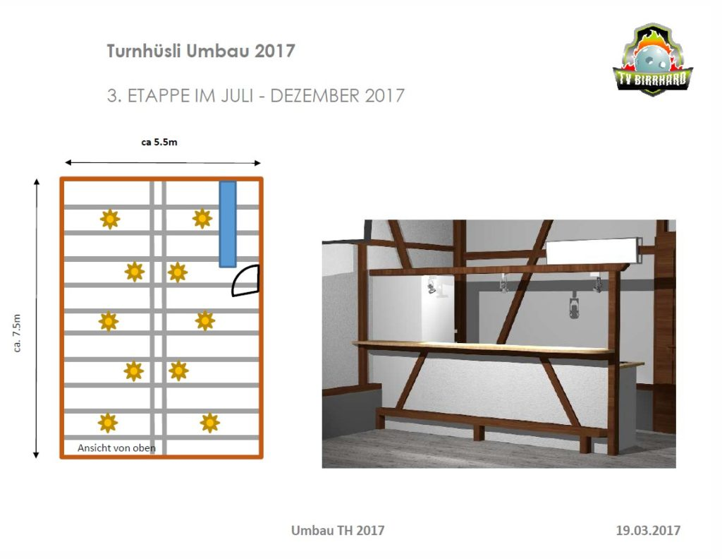 Turnhüsliumbau 2017 Bar