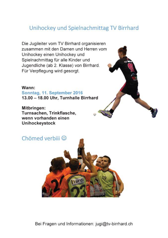 Unihockey und Spielnachmittag TV Birrhard-001